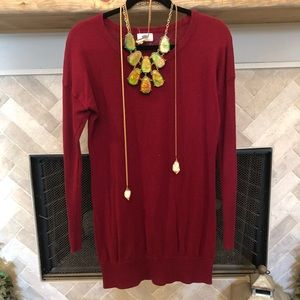Old Navy maroon long-line sweater - M